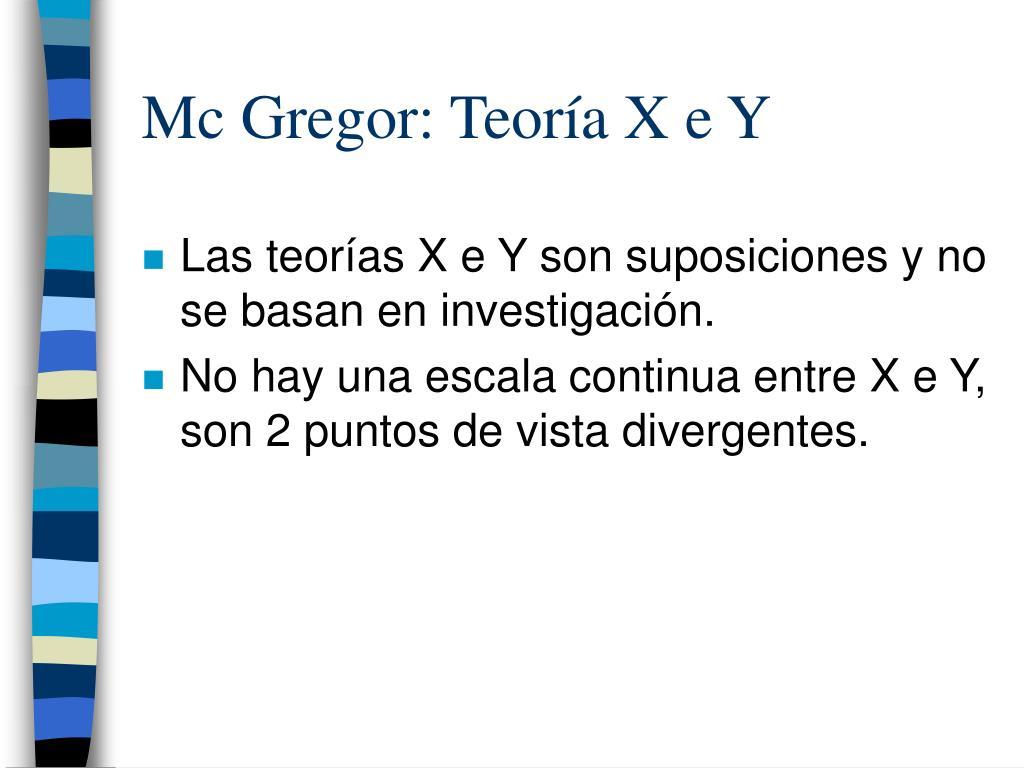 Mc Gregor: Teoría X e Y