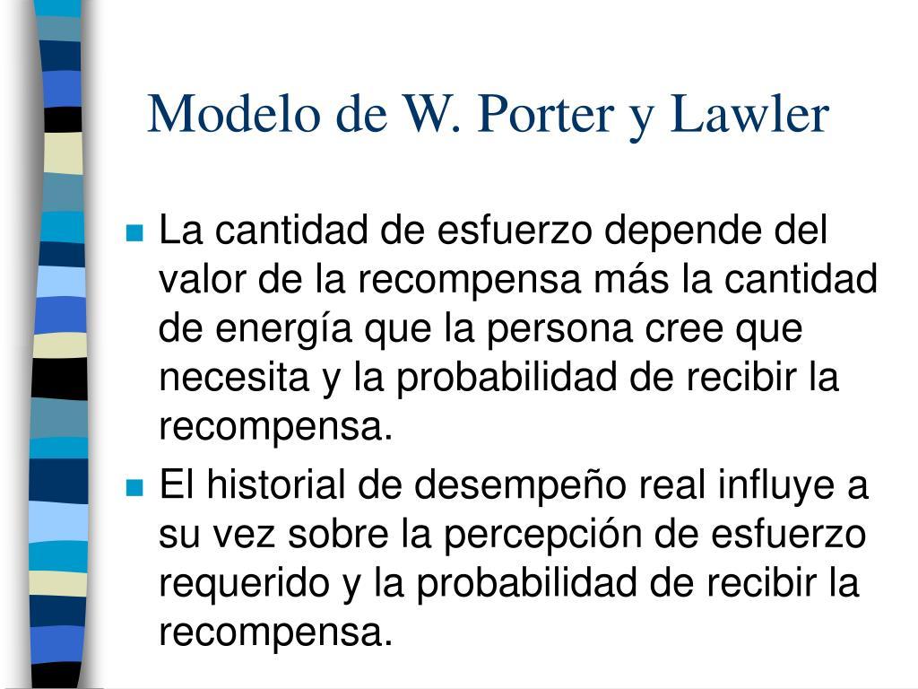 Modelo de W. Porter y Lawler