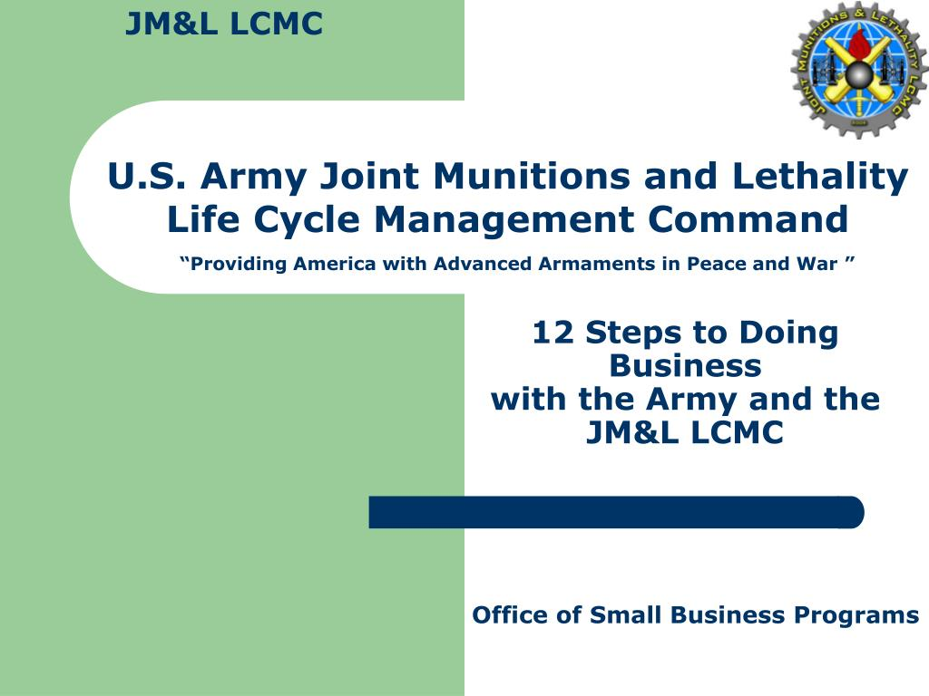 12 steps to doing business with the army and the jm l lcmc l.