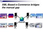 xml based e commerce bridges the manual gap