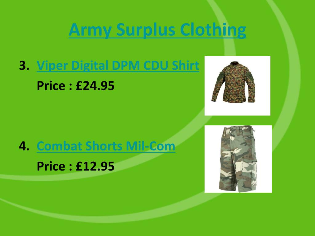 Army Surplus Clothing