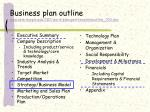 business plan outline www sbm temple edu iei word planigenttemplateoutline 003 doc