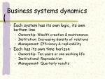 business systems dynamics