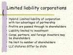 limited liability corporations