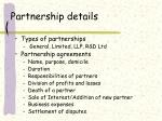 partnership details