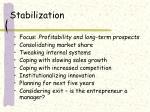 stabilization