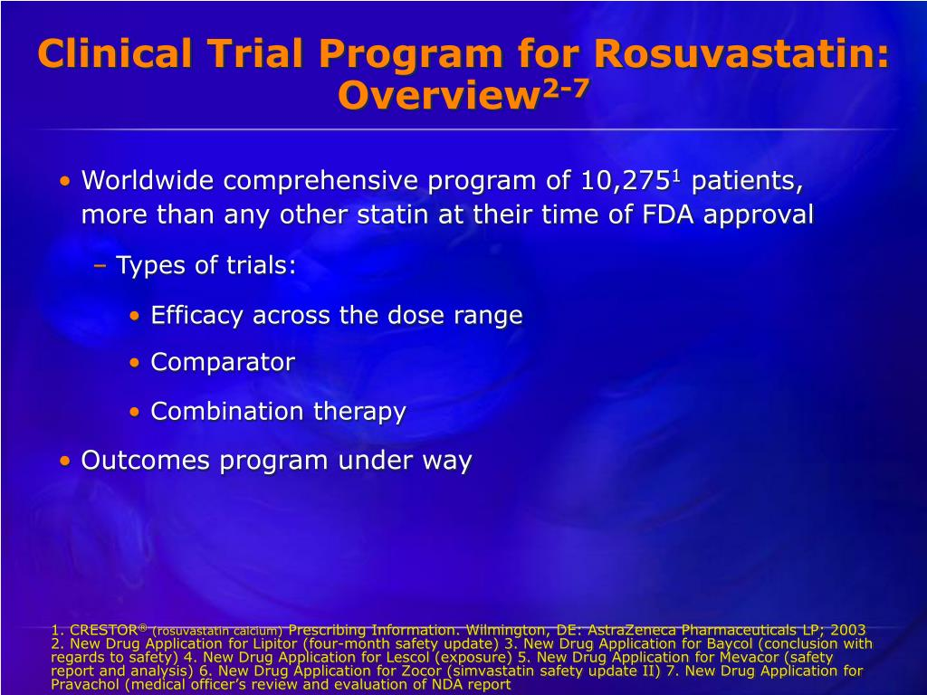 Clinical Trial Program for Rosuvastatin: Overview