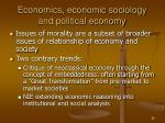 economics economic sociology and political economy