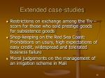 extended case studies
