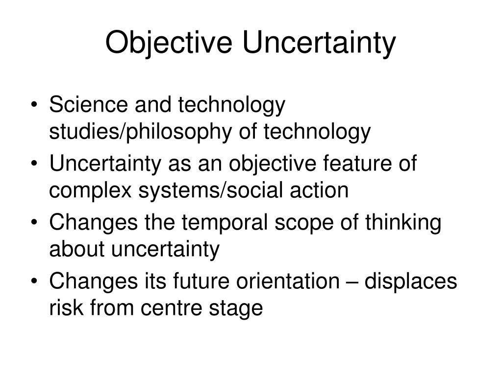 Objective Uncertainty