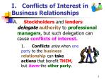 i conflicts of interest in business relationships