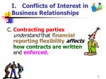 i conflicts of interest in business relationships5