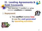 ii lending agreements debt covenants11