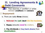 ii lending agreements debt covenants12