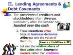 ii lending agreements debt covenants7