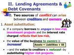 ii lending agreements debt covenants8