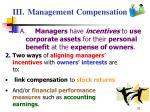 iii management compensation31