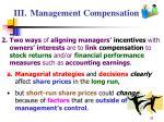 iii management compensation32