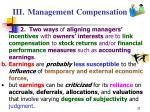 iii management compensation33