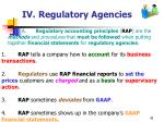 iv regulatory agencies42