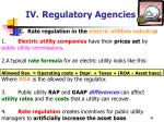 iv regulatory agencies45