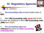 iv regulatory agencies46