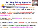 iv regulatory agencies47