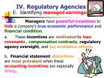 iv regulatory agencies48
