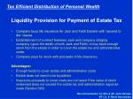 liquidity provision for payment of estate tax