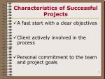 characteristics of successful projects