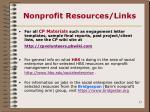 nonprofit resources links