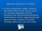 general electronic safety