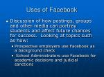 uses of facebook
