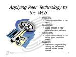 applying peer technology to the web