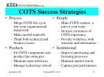 cots success strategies