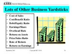 lots of other business yardsticks