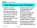 nine business case principles