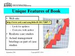 unique features of book