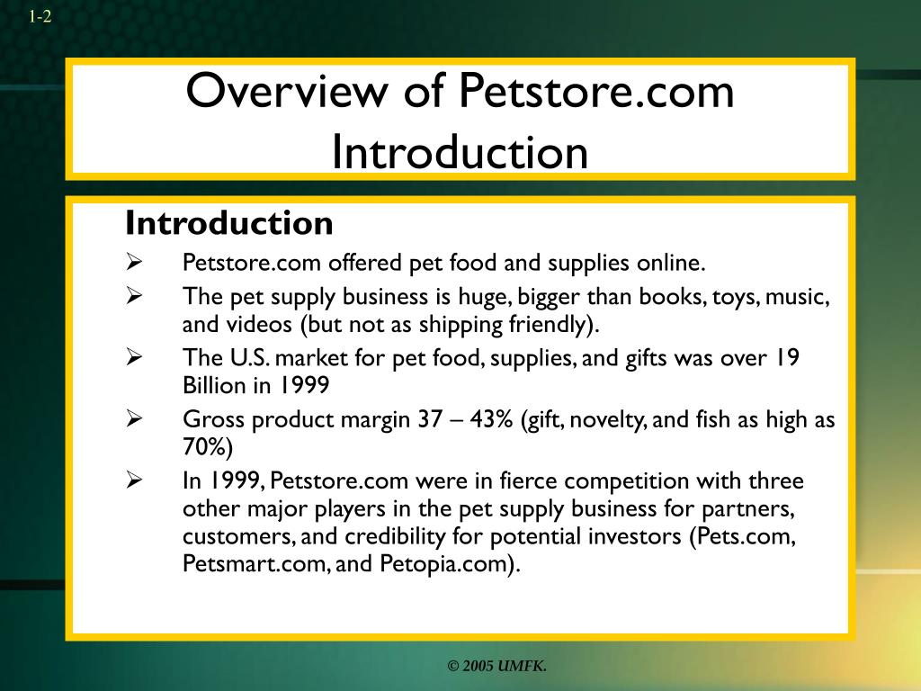 Overview of Petstore.com Introduction