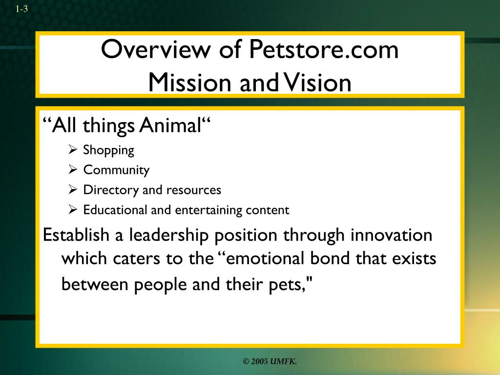 Overview of Petstore.com