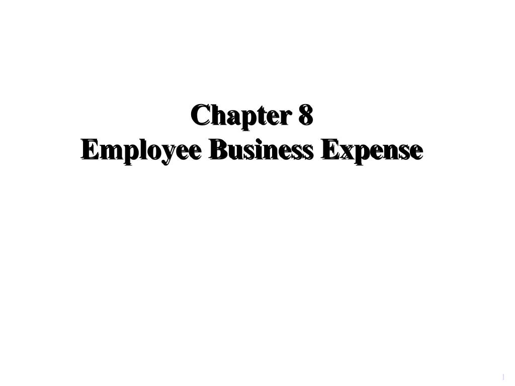 chapter 8 employee business expense l.