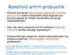 romatoid artrit probiyotik