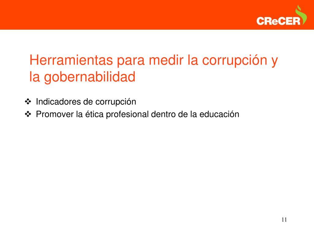 Indicadores de corrupción