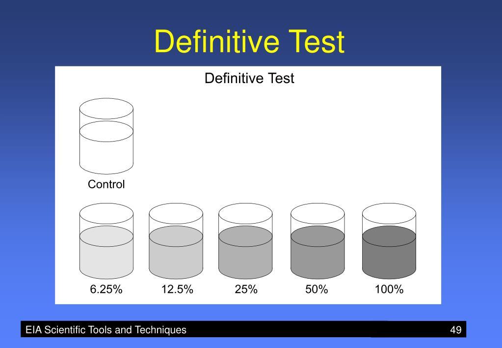 Definitive Test