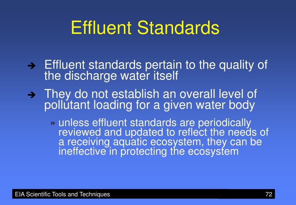 Effluent Standards