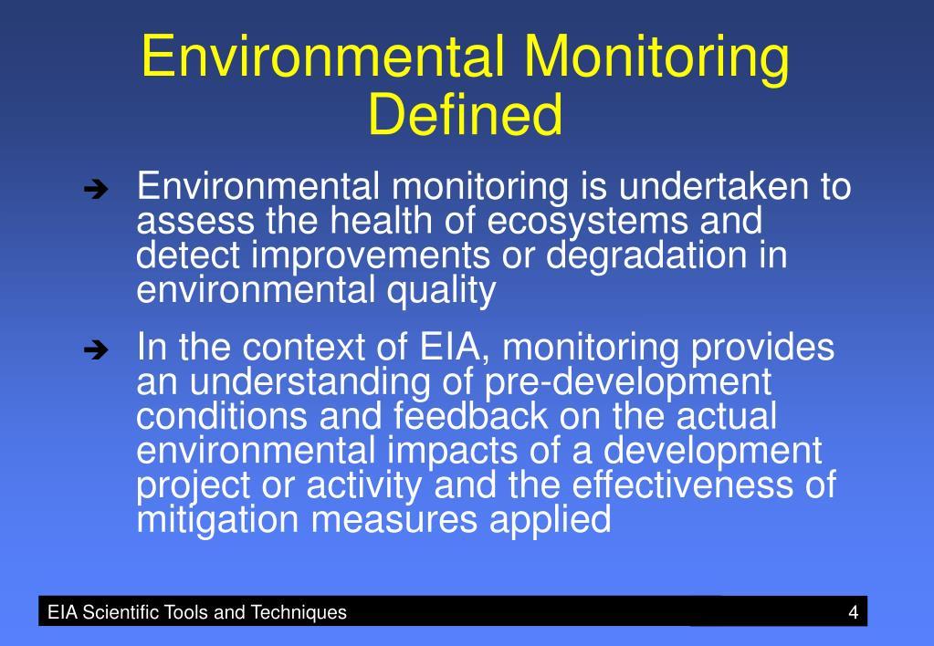 Environmental Monitoring Defined