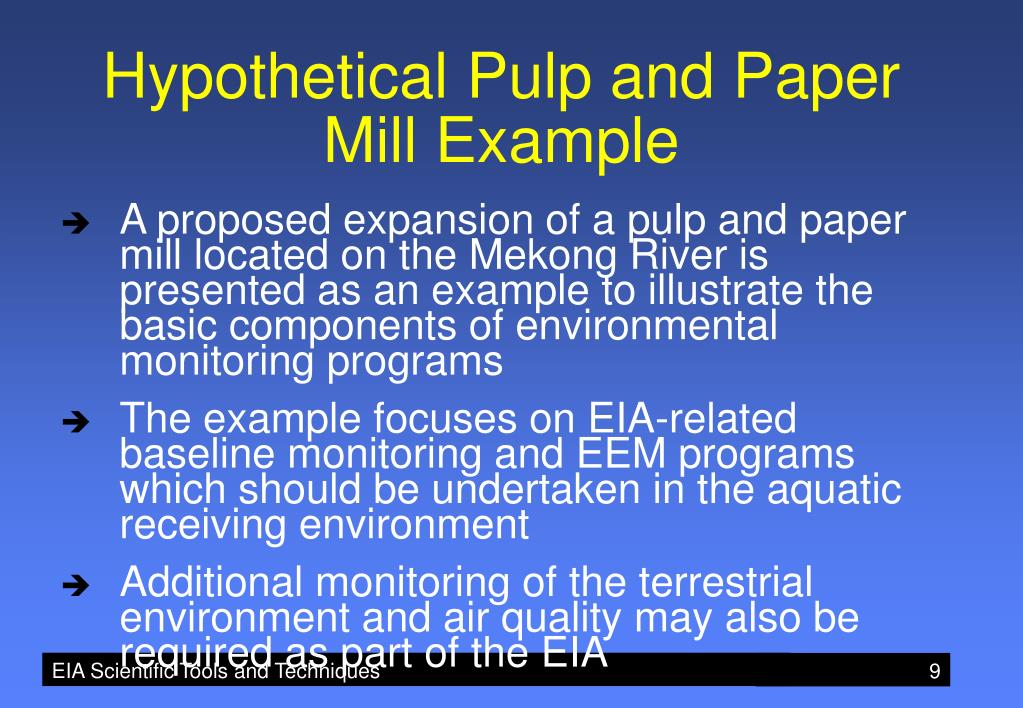 Hypothetical Pulp and Paper