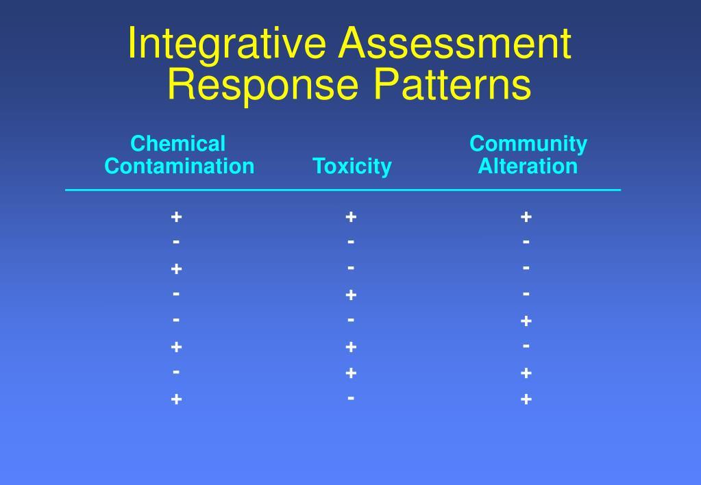 Integrative Assessment Response Patterns