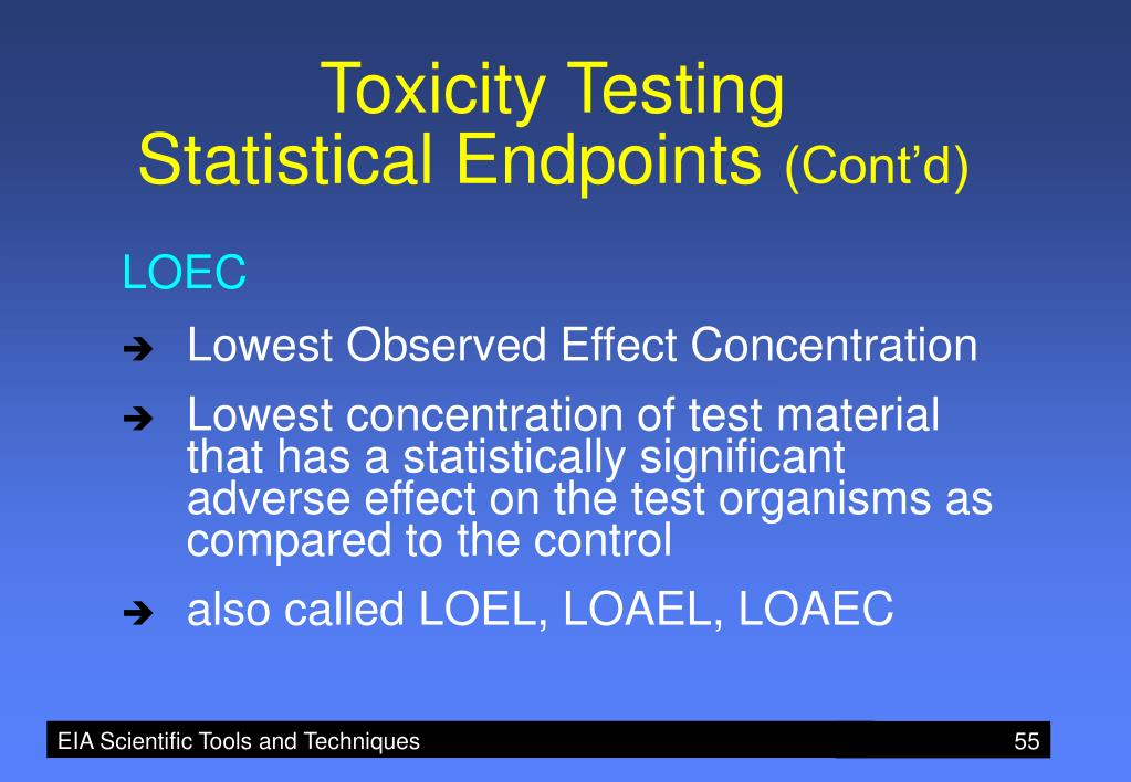 Toxicity Testing