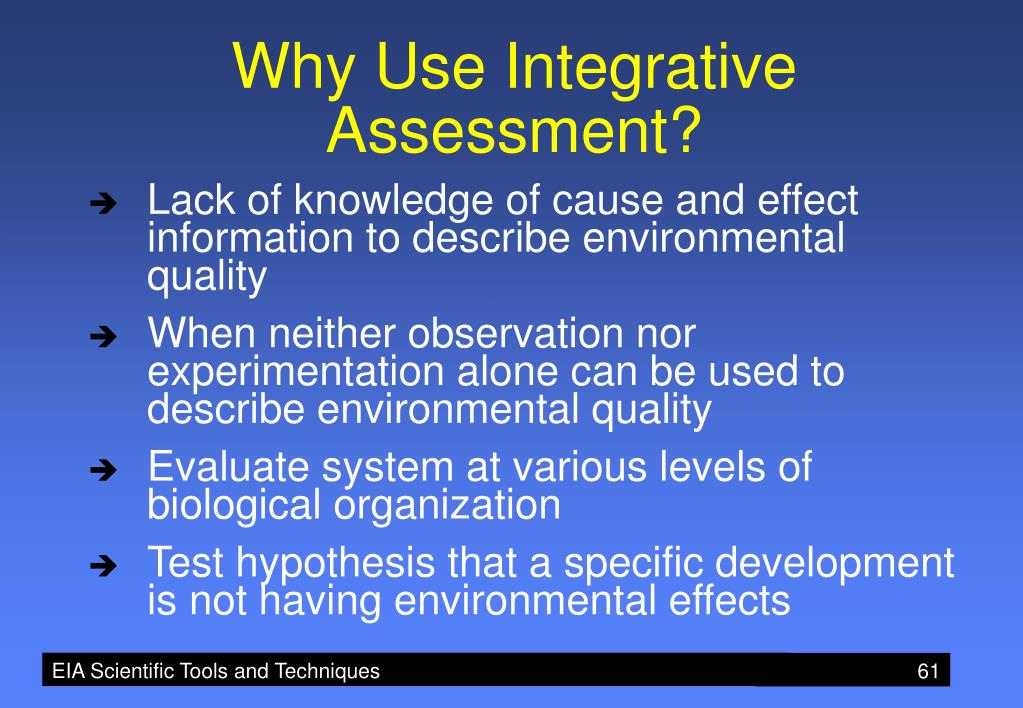 Why Use Integrative Assessment?